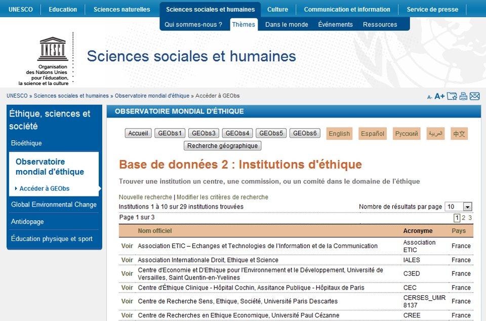 association ETIC référencée à l'UNESCO